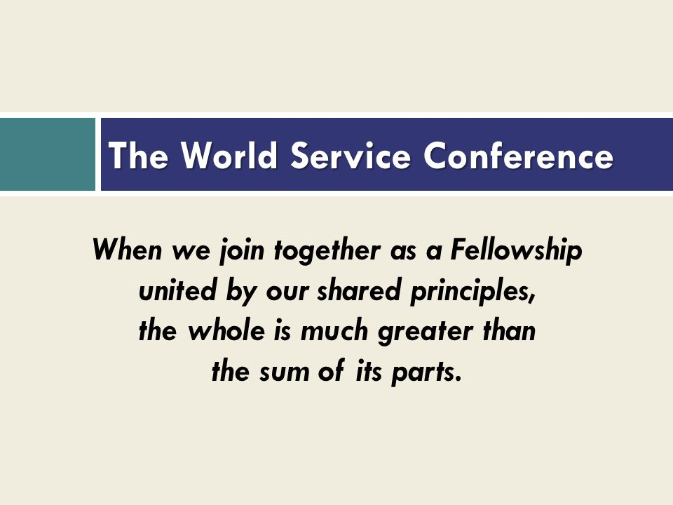 The World Service Conference