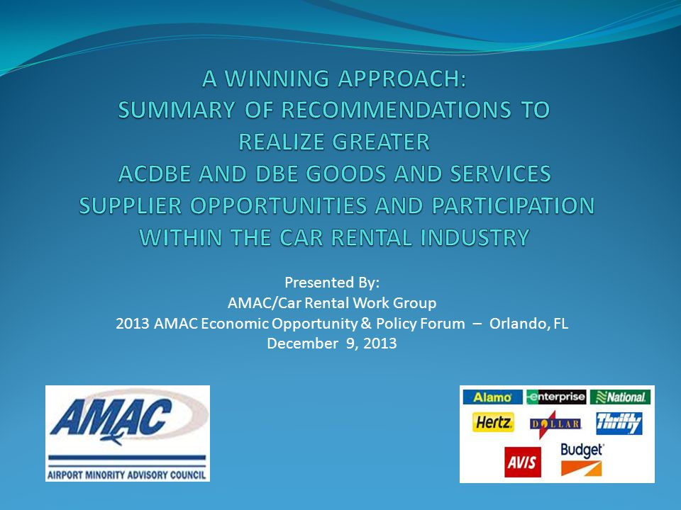 AMAC/Car Rental Work Group