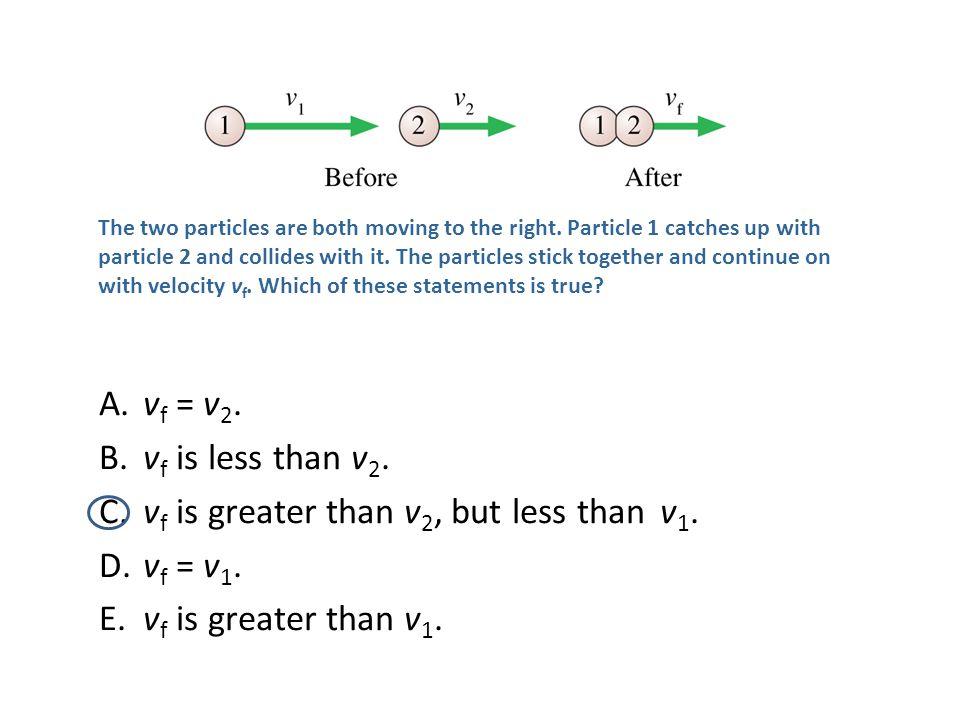 vf is greater than v2, but less than v1. vf = v1.