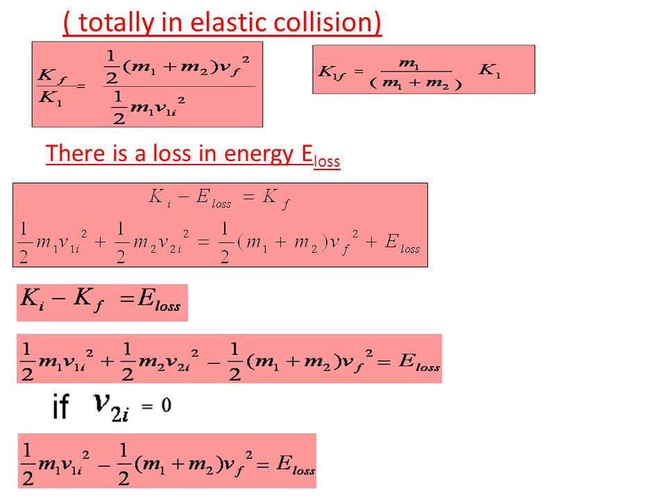 ( totally in elastic collision)