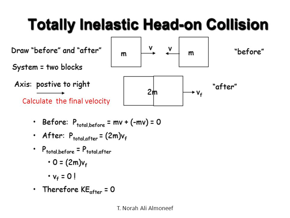 Calculate the final velocity