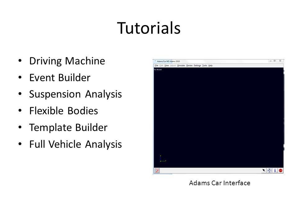 Tutorials Driving Machine Event Builder Suspension Analysis