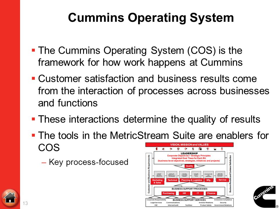 Cummins Operating System