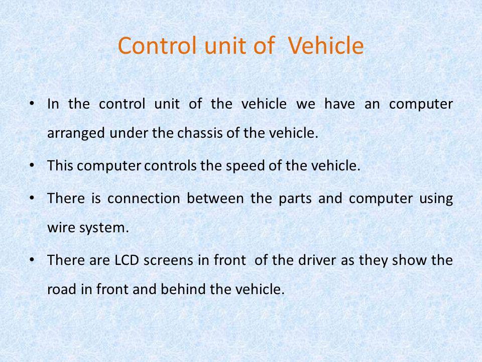 Control unit of Vehicle