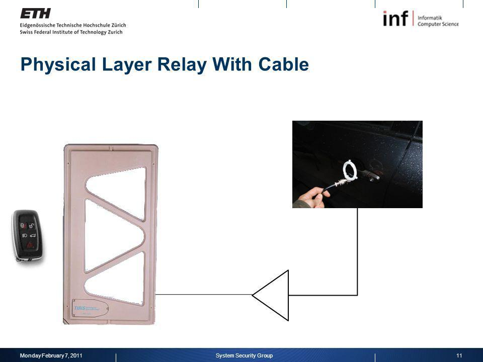 Physical Layer Relay With Cable