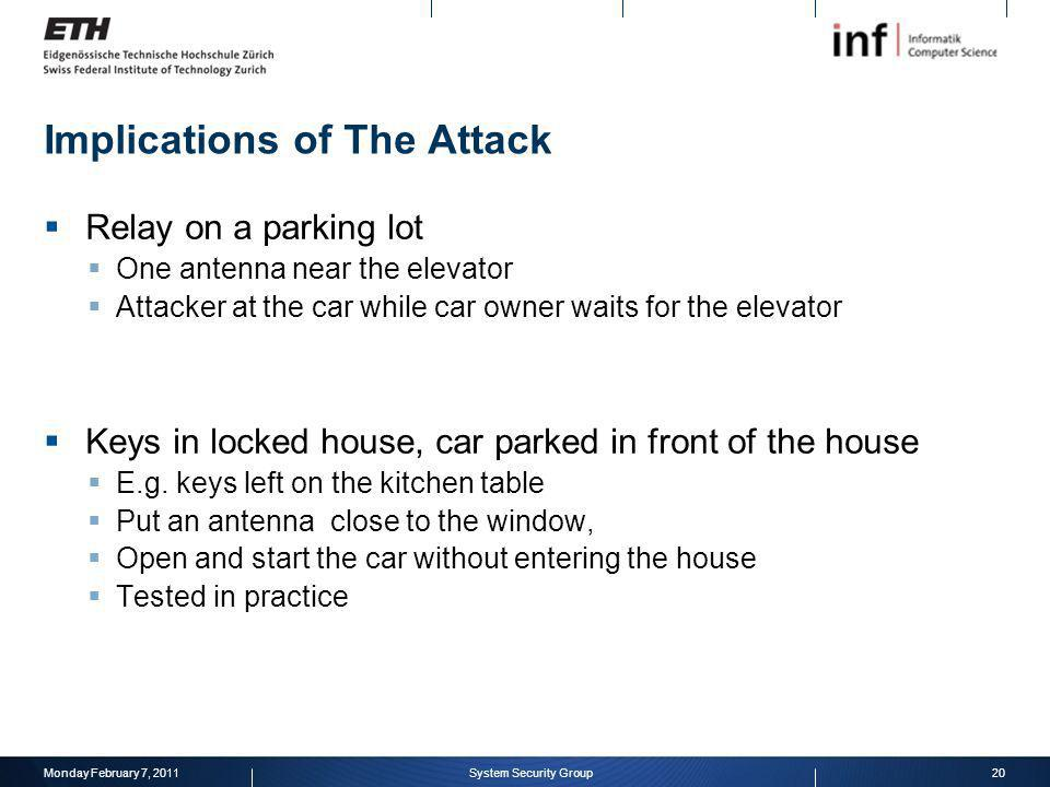 Implications of The Attack