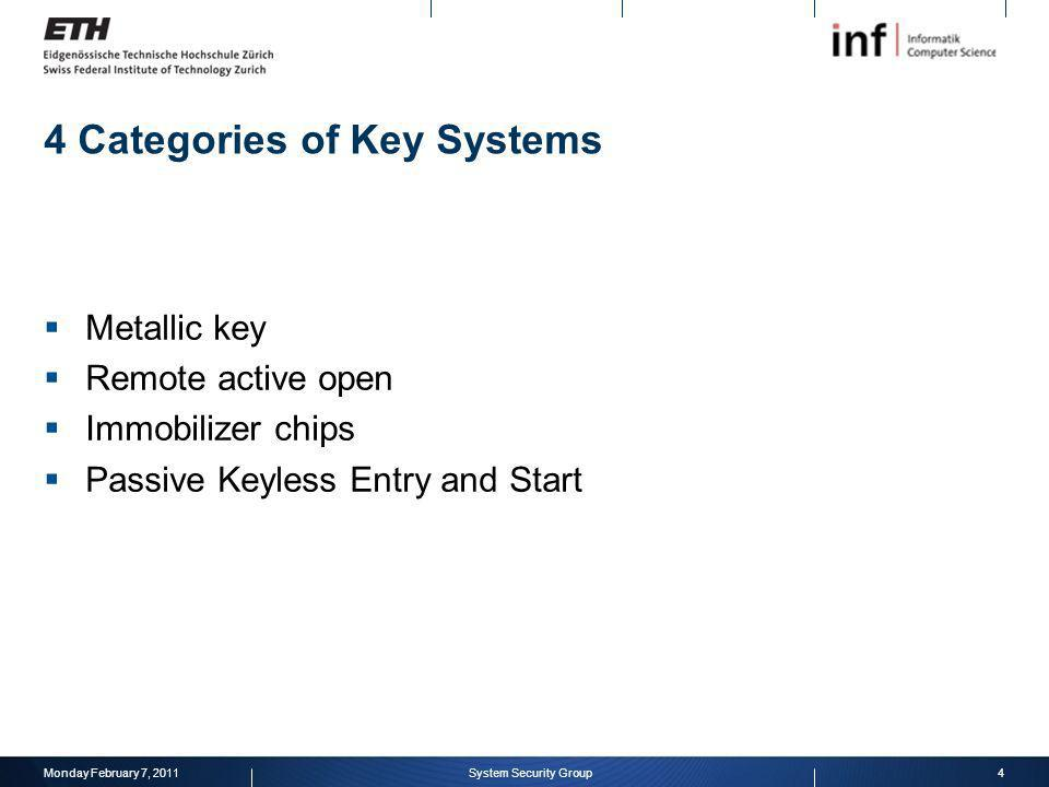 4 Categories of Key Systems