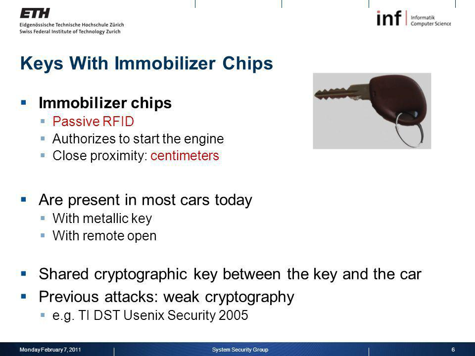 Keys With Immobilizer Chips