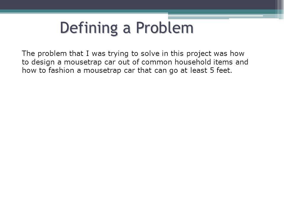 Defining a Problem