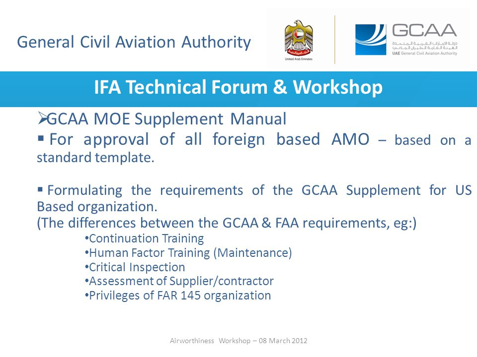 IFA Technical Forum & Workshop