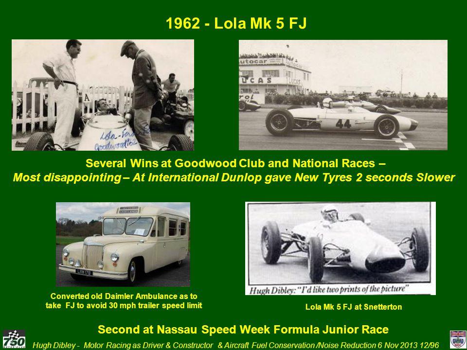 1962 - Lola Mk 5 FJ Several Wins at Goodwood Club and National Races –