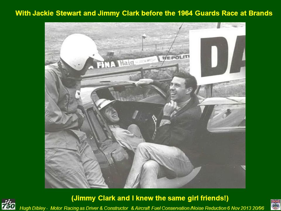 (Jimmy Clark and I knew the same girl friends!)