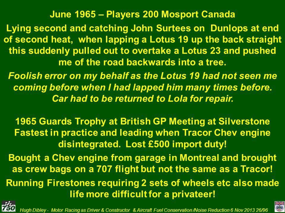 June 1965 – Players 200 Mosport Canada