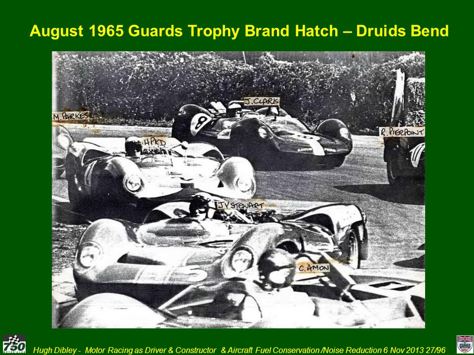 August 1965 Guards Trophy Brand Hatch – Druids Bend