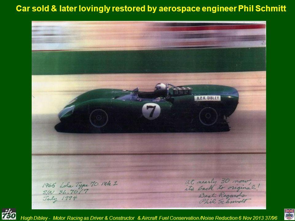 Car sold & later lovingly restored by aerospace engineer Phil Schmitt