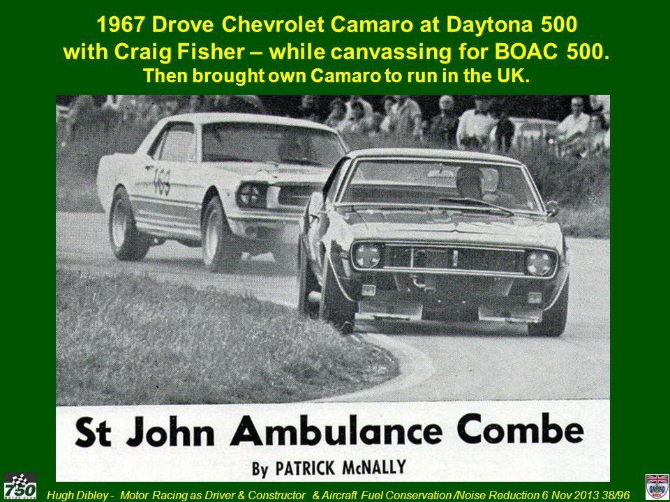 1967 Drove Chevrolet Camaro at Daytona 500