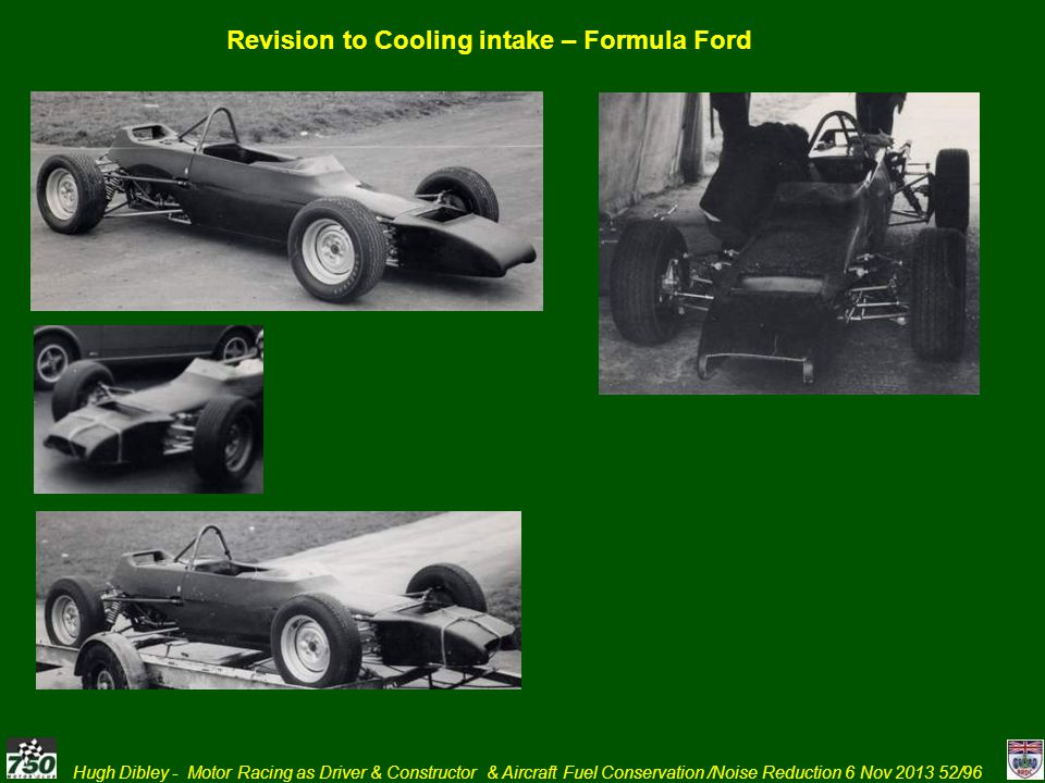 Revision to Cooling intake – Formula Ford