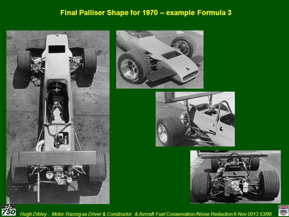 Final Palliser Shape for 1970 – example Formula 3
