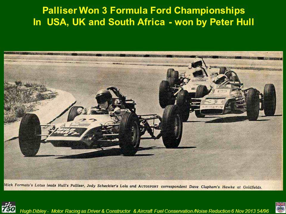 Palliser Won 3 Formula Ford Championships