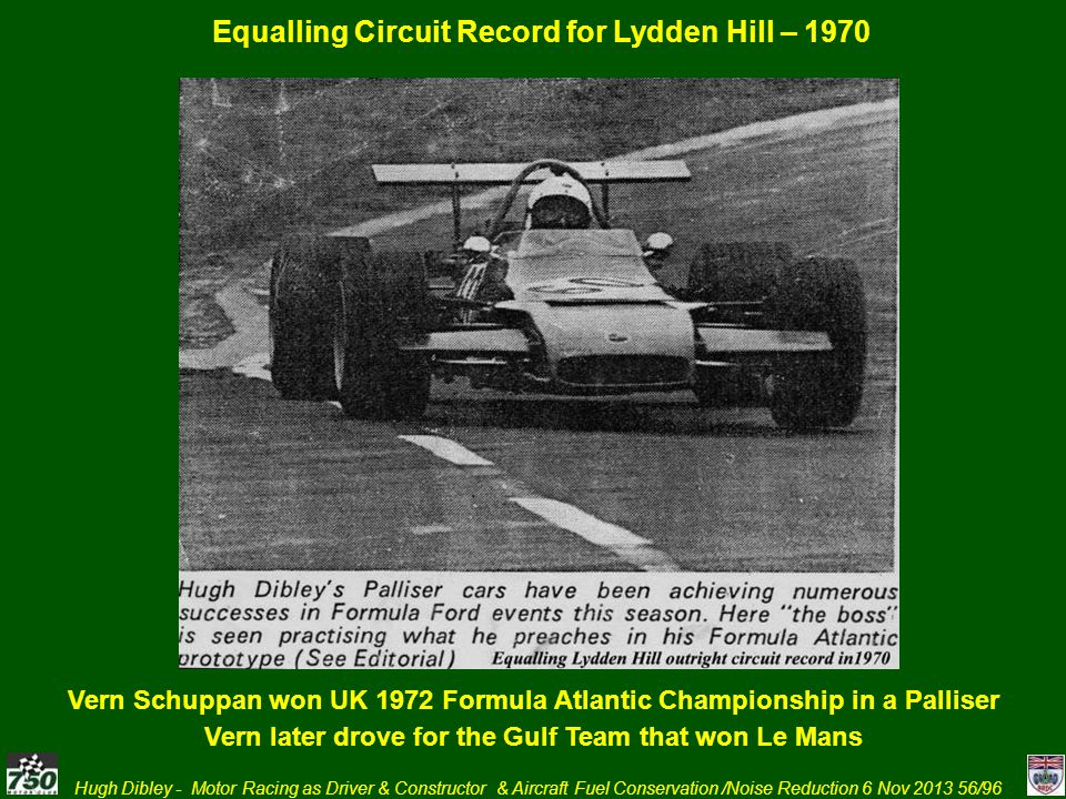 Equalling Circuit Record for Lydden Hill – 1970