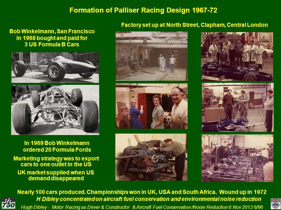Formation of Palliser Racing Design 1967-72