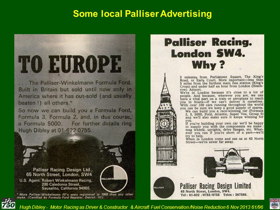 Some local Palliser Advertising