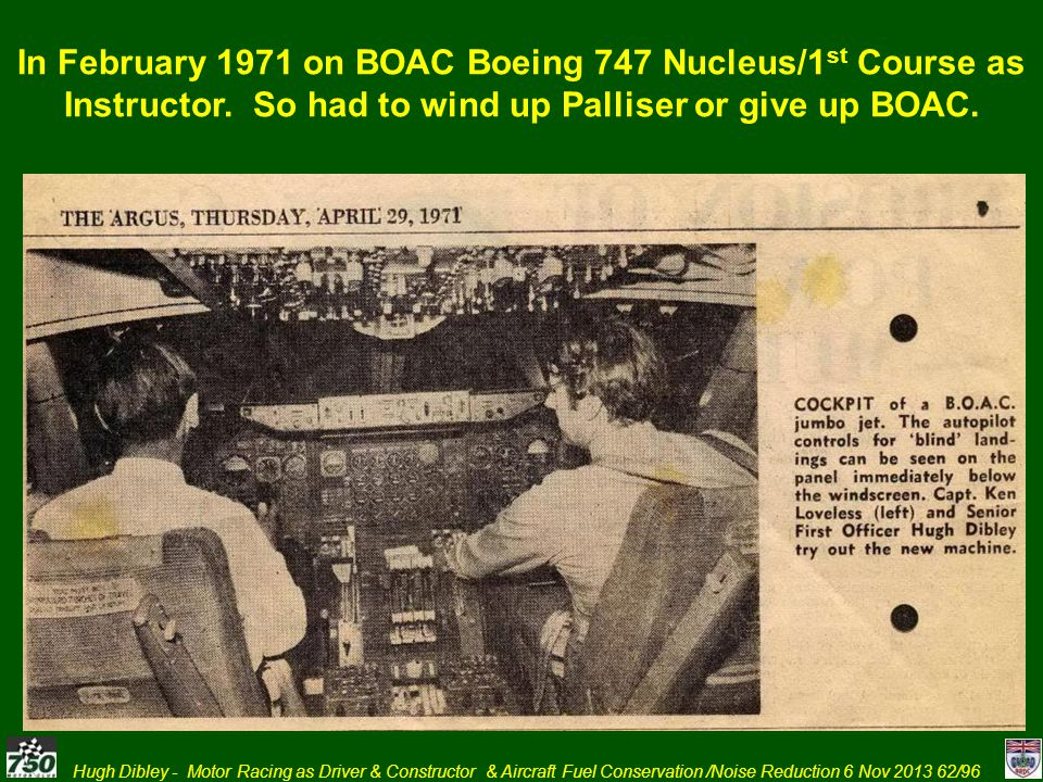 In February 1971 on BOAC Boeing 747 Nucleus/1st Course as Instructor