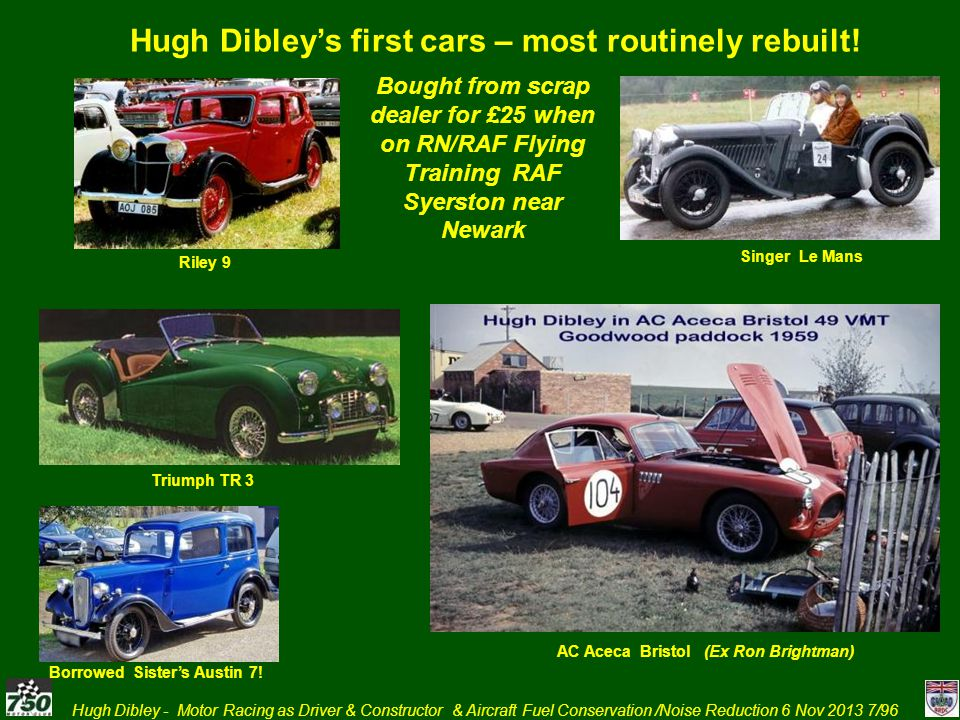 Hugh Dibley's first cars – most routinely rebuilt!