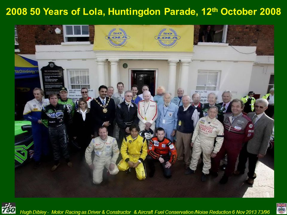 2008 50 Years of Lola, Huntingdon Parade, 12th October 2008