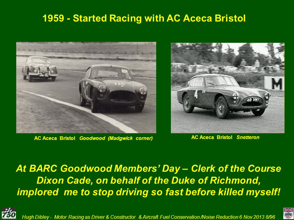 1959 - Started Racing with AC Aceca Bristol