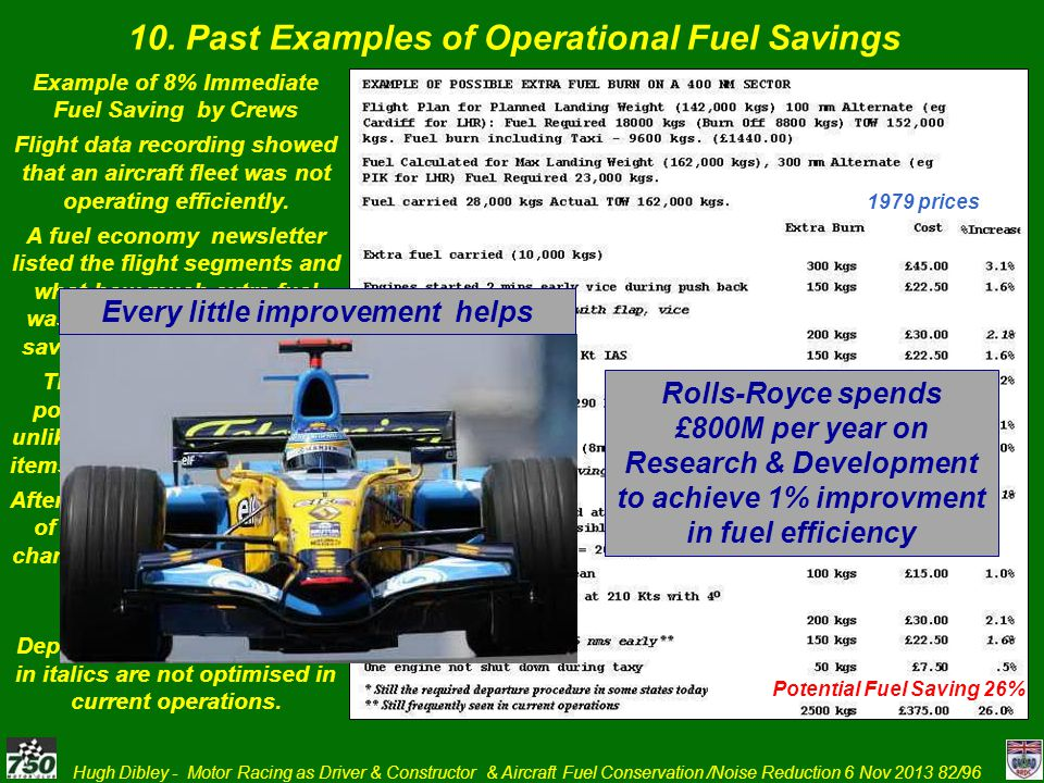 10. Past Examples of Operational Fuel Savings