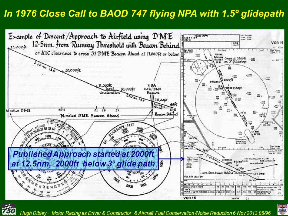 In 1976 Close Call to BAOD 747 flying NPA with 1.5º glidepath