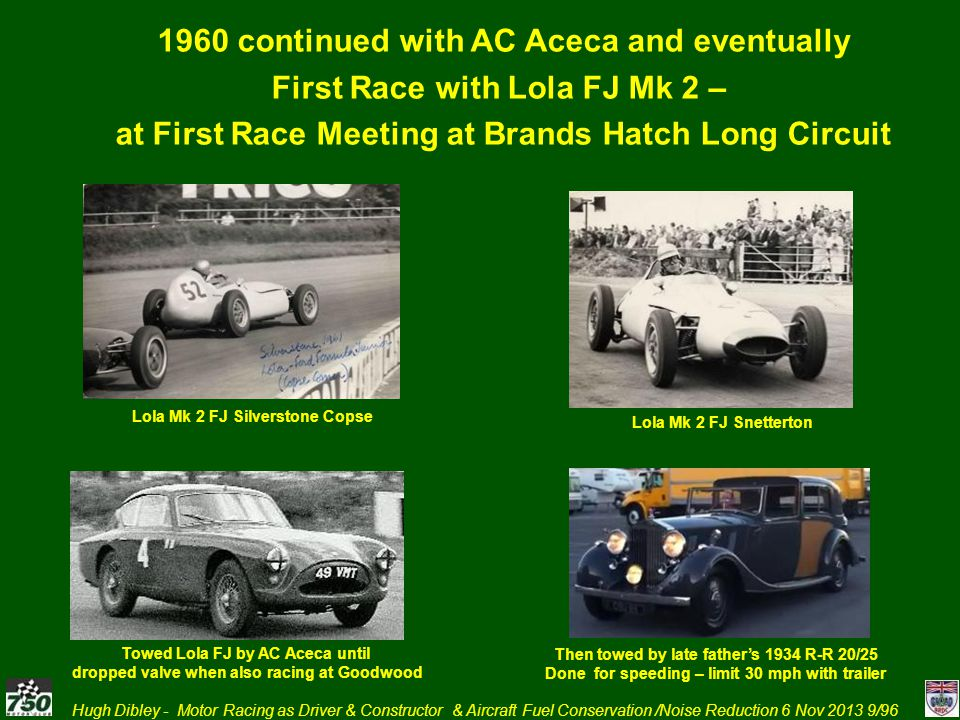 1960 continued with AC Aceca and eventually
