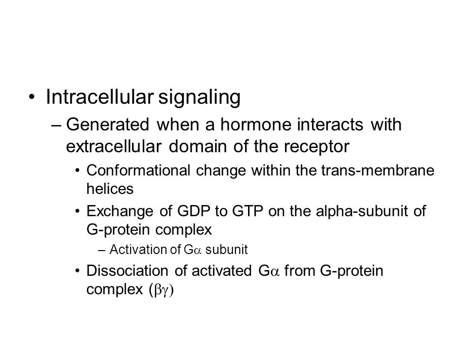 Intracellular signaling