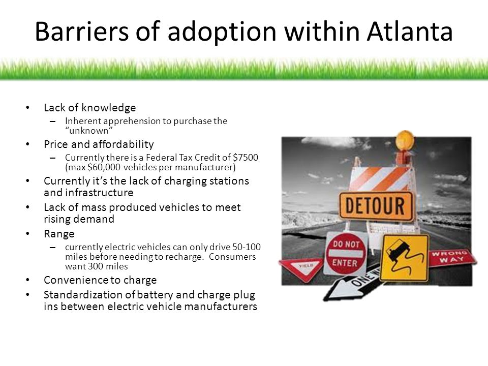 Barriers of adoption within Atlanta