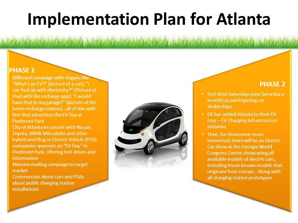 Implementation Plan for Atlanta