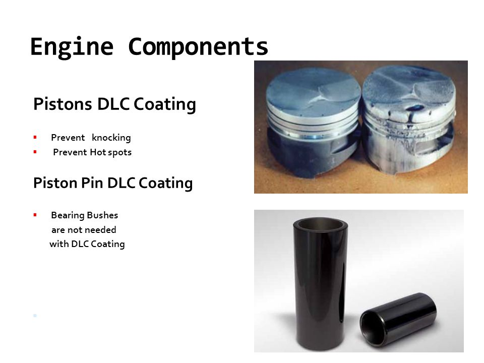 Engine Components Pistons DLC Coating Piston Pin DLC Coating