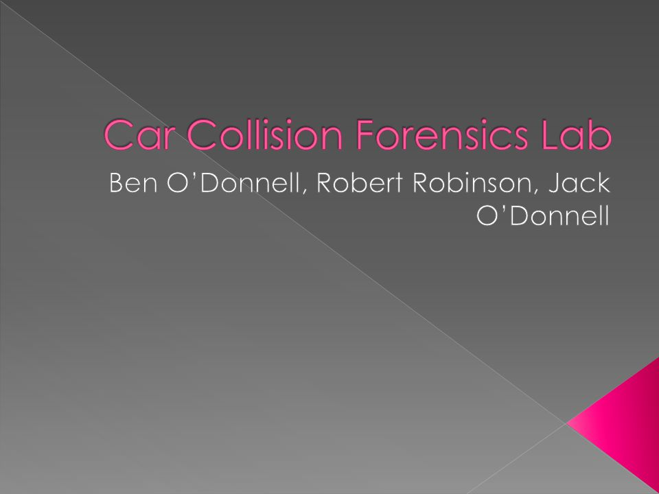 Car Collision Forensics Lab