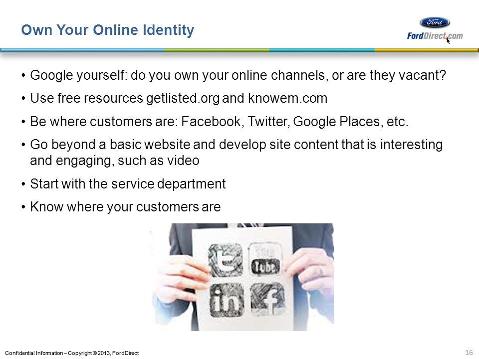 Own Your Online Identity