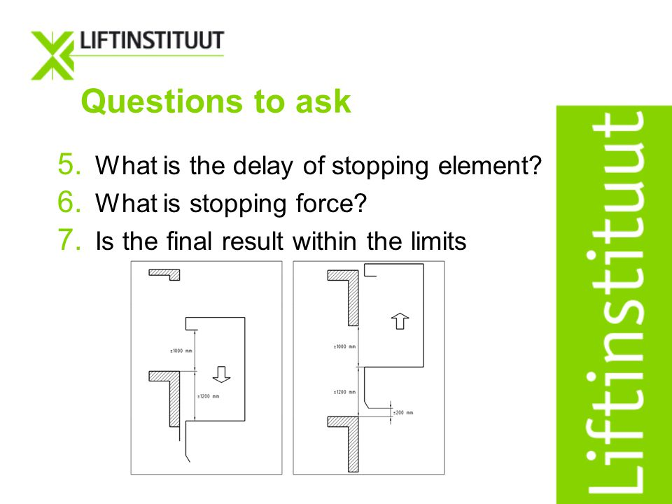 Questions to ask What is the delay of stopping element