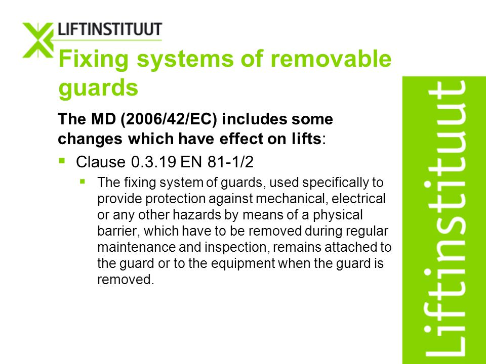 Fixing systems of removable guards