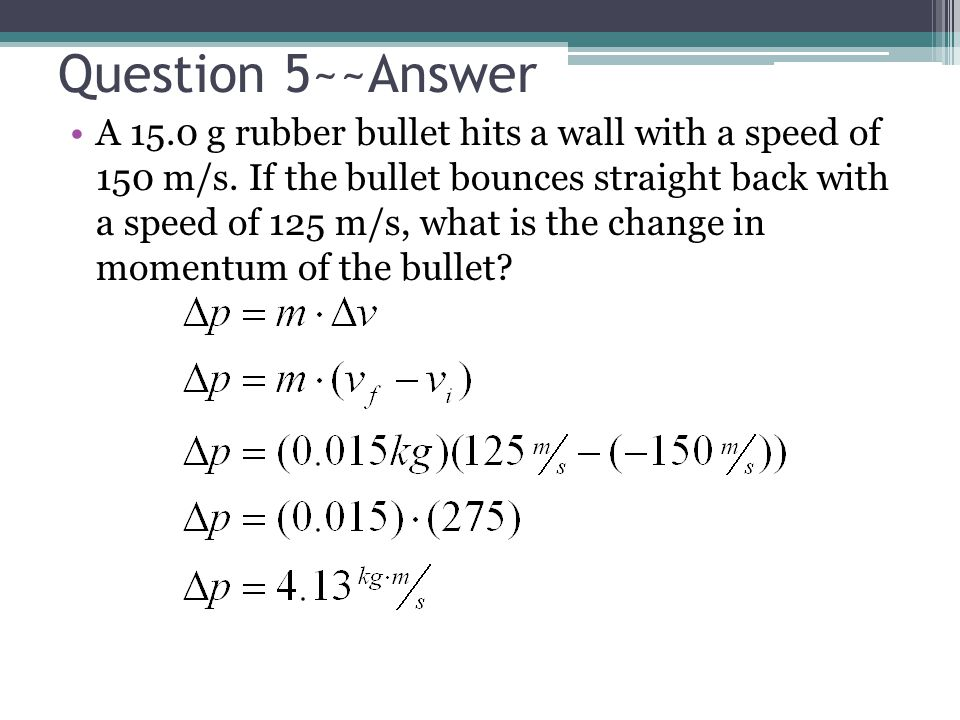 Question 5~~Answer