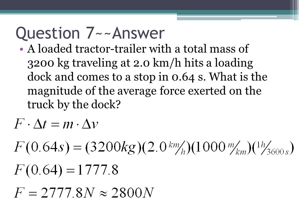 Question 7~~Answer