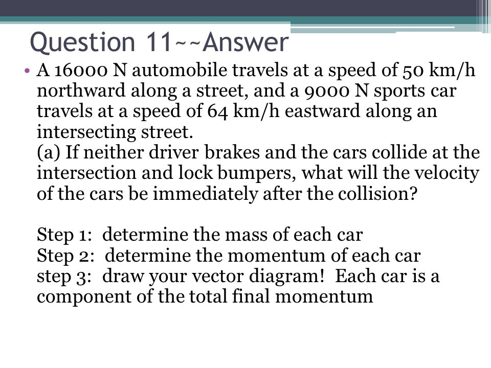 Question 11~~Answer