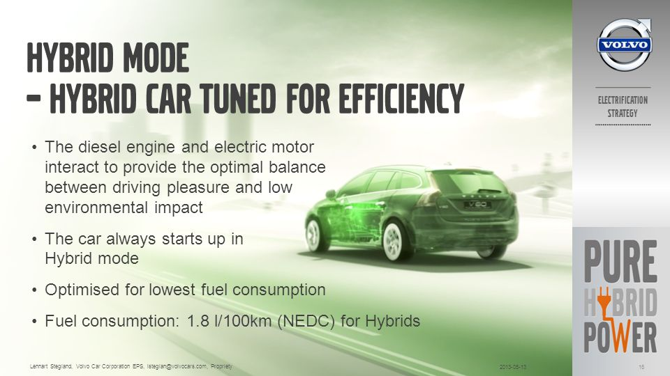 Hybrid Mode – Hybrid car tuned for efficiency
