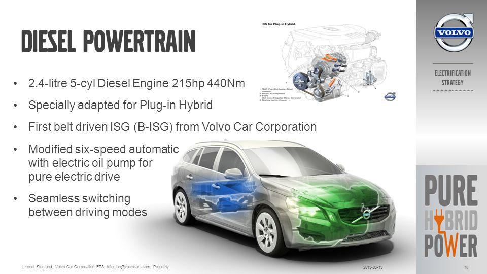 Diesel powertrain 2.4-litre 5-cyl Diesel Engine 215hp 440Nm