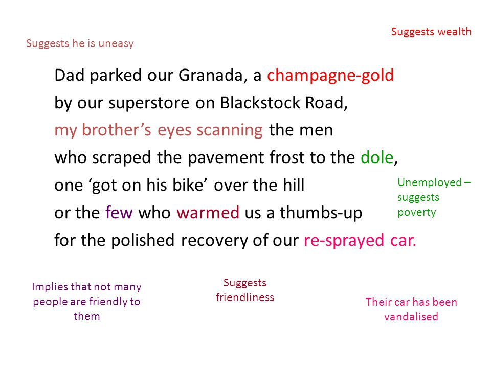 Dad parked our Granada, a champagne-gold