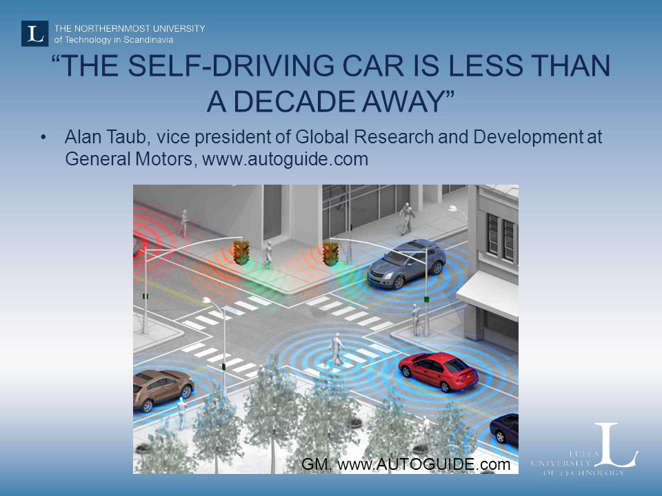 THE SELF-DRIVING CAR IS LESS THAN A DECADE AWAY