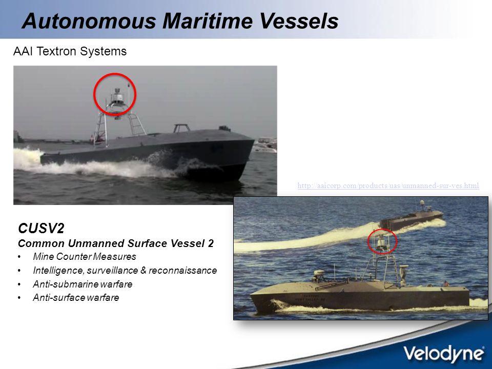 Autonomous Maritime Vessels