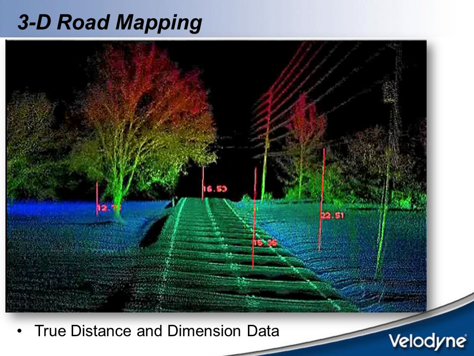 3-D Road Mapping True Distance and Dimension Data